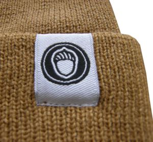 Label knitted cap