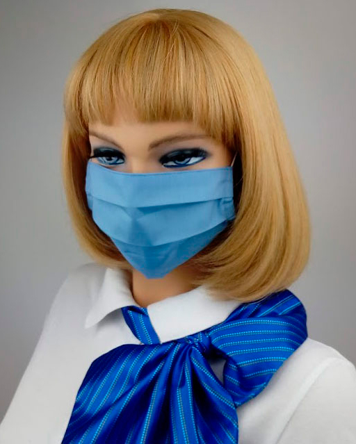 Пошив корпоративных масок модель №1 на заказ на швейной фабрике