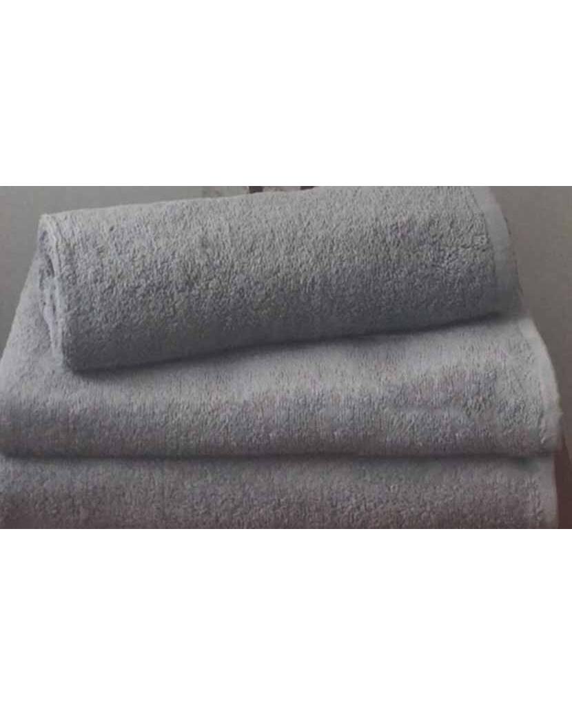 Махровое полотенце пл.500 гр/м2 без бордюров, серый