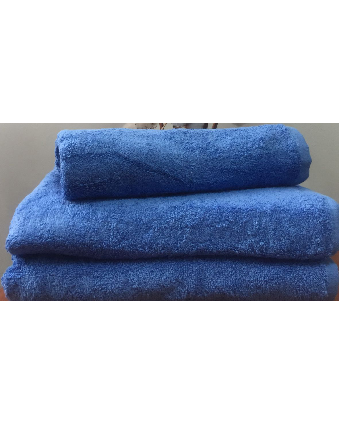 Махровое полотенце пл.500 гр/м2 без бордюров, синий