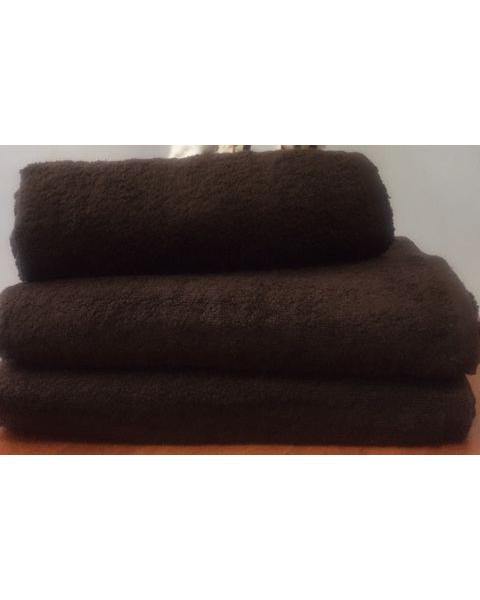 Махровое полотенце пл.500 гр/м2 без бордюров, шоколадный