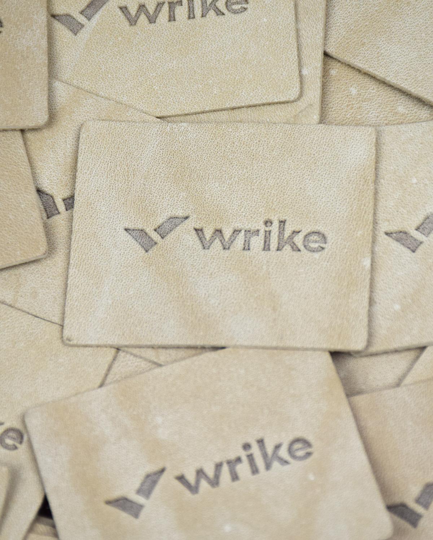 Этикетки кожаные Wrike