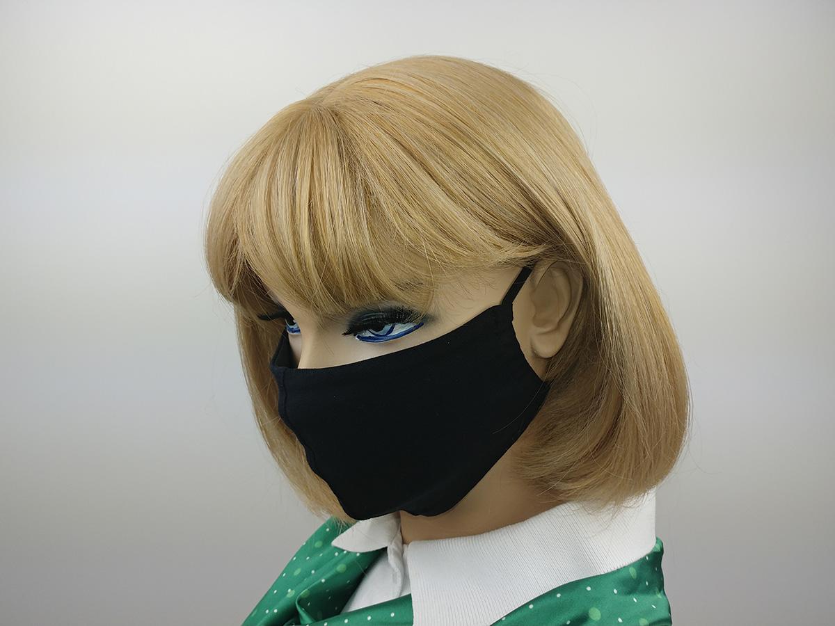 Защитные повязки на лицо. Маска черная.