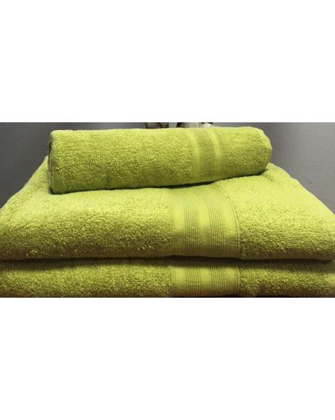 Махровое полотенце пл.420 гр/м2 с бордюром, оливковый