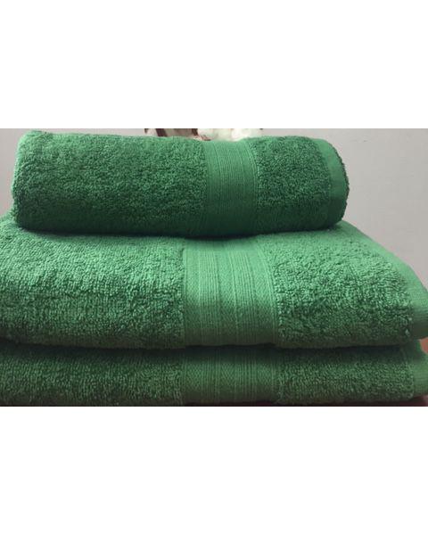 Махровое полотенце пл.420 гр/м2 с бордюром, зеленый