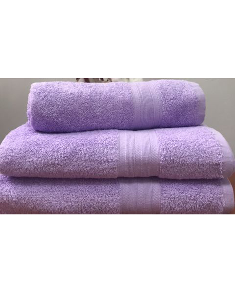 Махровое полотенце пл.420 гр/м2 с бордюром, сиреневое