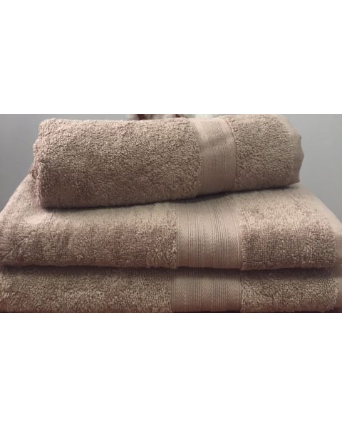 Махровое полотенце пл.420 гр/м2 с бордюром, кофе