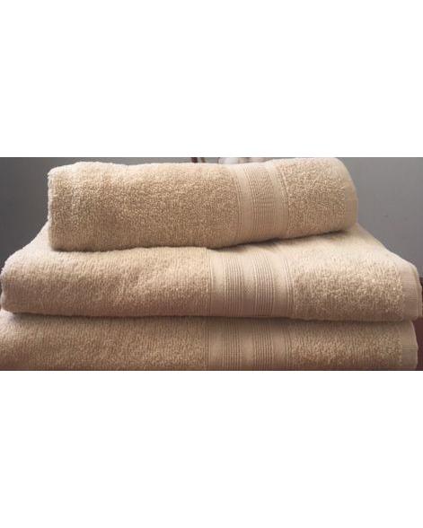 Махровое полотенце пл.420 гр/м2 с бордюром, капучино