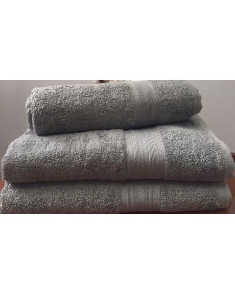 Махровое полотенце пл.420 гр/м2 с бордюром, серый