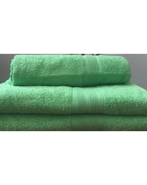 Махровое полотенце пл.420 гр/м2 с бордюром, салатовый