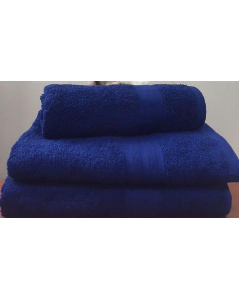 Махровое полотенце пл.420 гр/м2 с бордюром, темно синий
