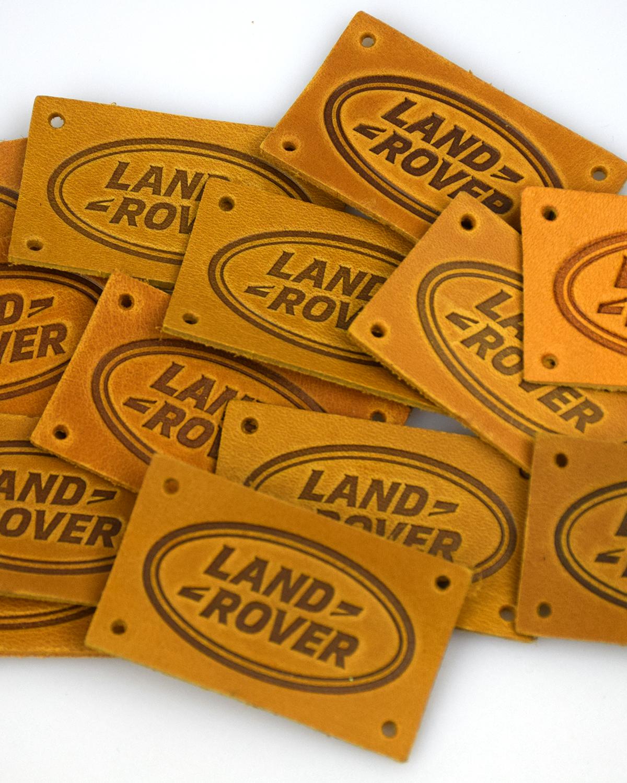 Этикетки кожаные Land Rover