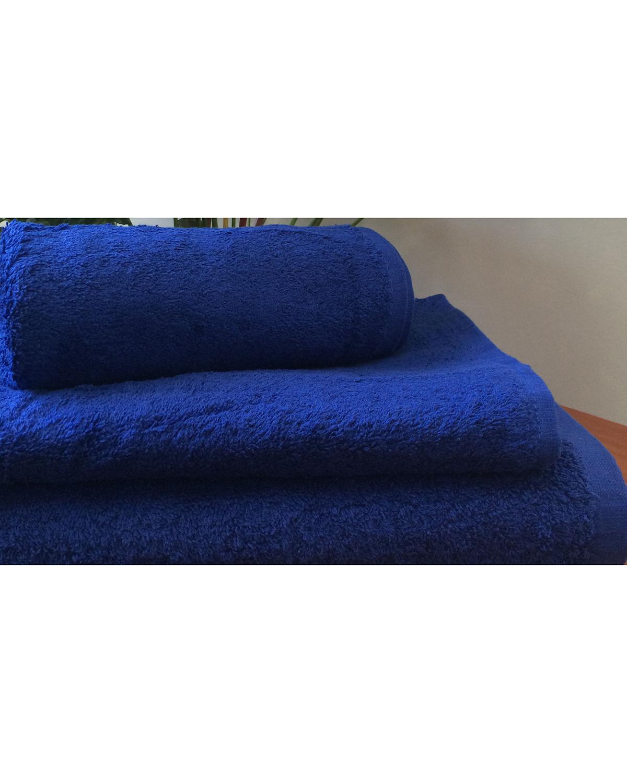 Махровое полотенце пл.500 гр/м2 без бордюров, темно синий
