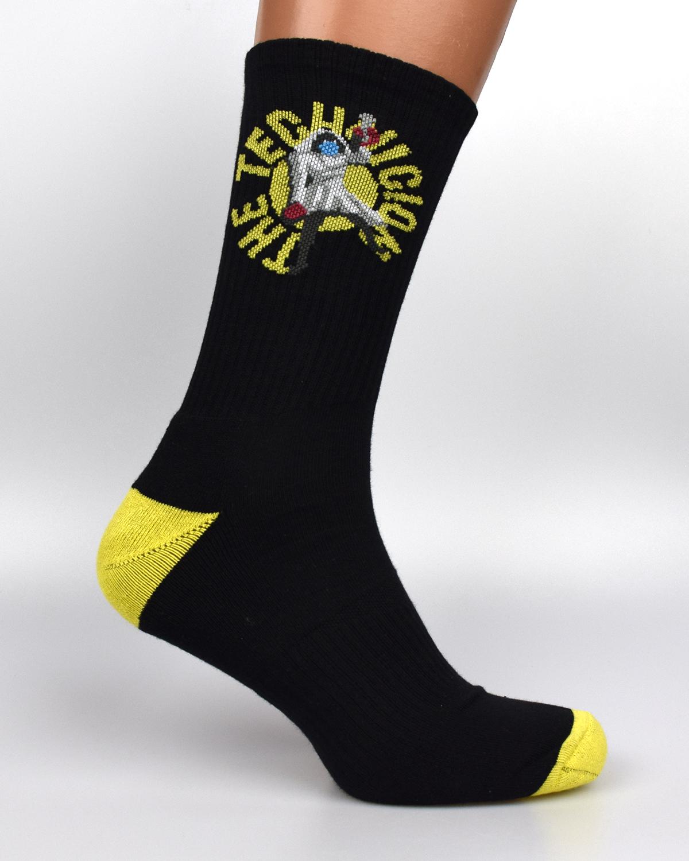 Шкарпетки з логотипом black-yellow