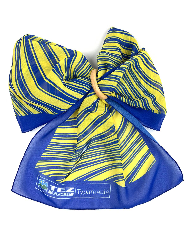 Печать шарфов с логотипом Tez Tour