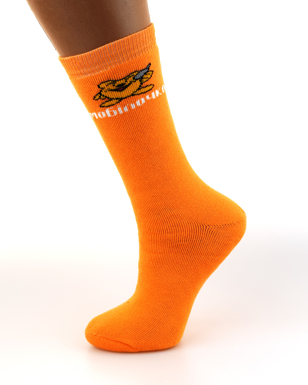 Носки с логотипом Мобилочка orange