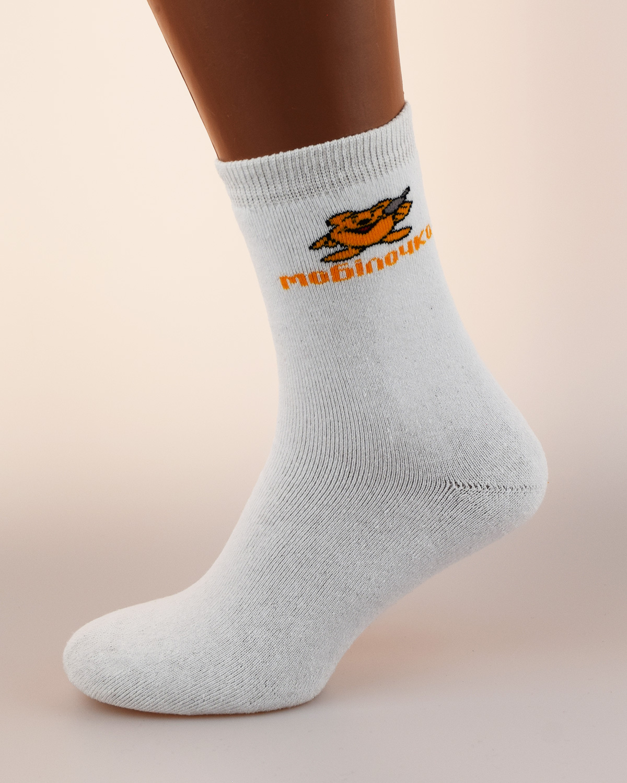Носки с логотипом мобилочка white